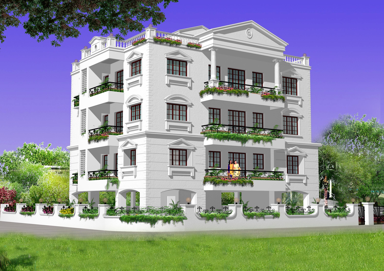 Shah Bunglow 3D Image